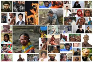 Photo Montage of peoples of the world.